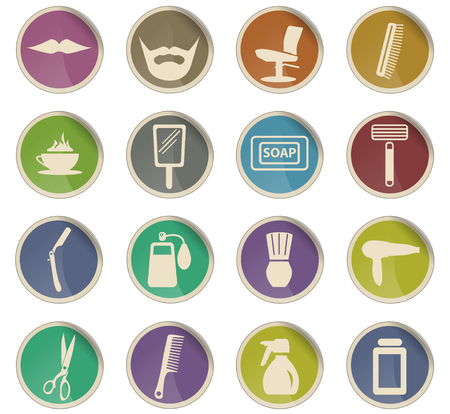 barbershop vector icons for user interface design Ilustrace