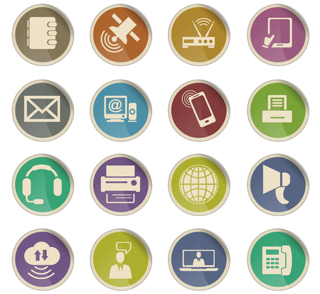 communication vector icons for user interface design