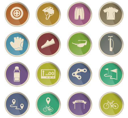 bicycle vector icons for user interface design