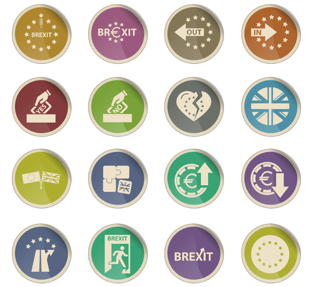brexit vector icons for user interface design