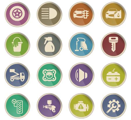 car shop vector icons for user interface design 版權商用圖片 - 112079904