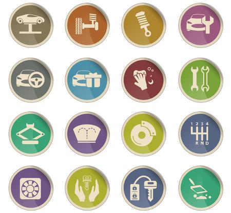 car shop vector icons for user interface design Stock Vector - 106178712