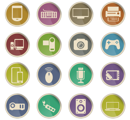 device vector icons for user interface design Vectores