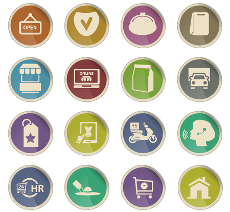 e-commerce wektorowe ikony do projektowania interfejsu użytkownika