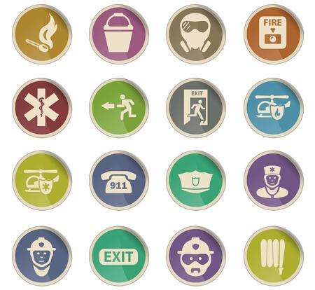 iconos vectoriales de emergencia para el diseño de la interfaz de usuario Ilustración de vector