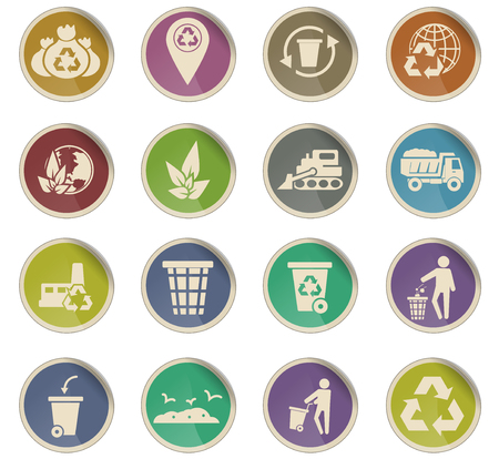 garbage vector icons for user interface design