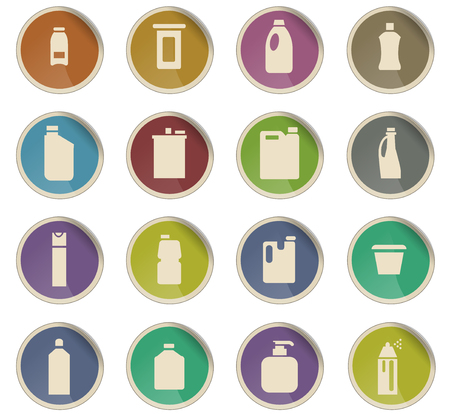 household chemicals vector icons for user interface design