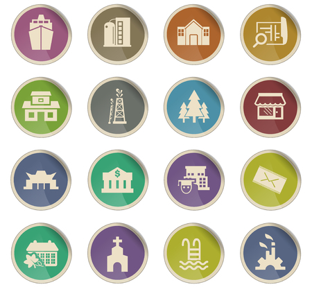 infrastructure vector icons for user interface design 일러스트