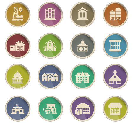infrastructure vector icons for user interface design Ilustrace