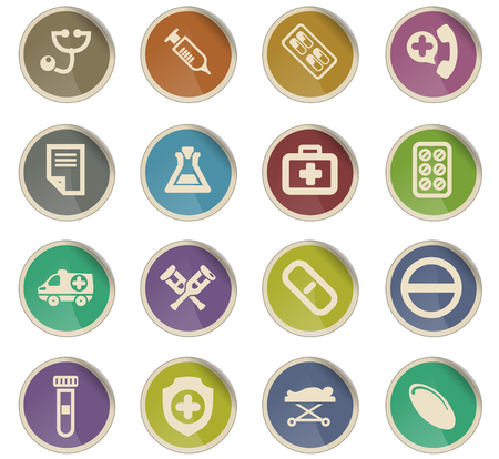medical vector icons for user interface design Ilustrace