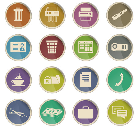 office vector icons for user interface design Иллюстрация