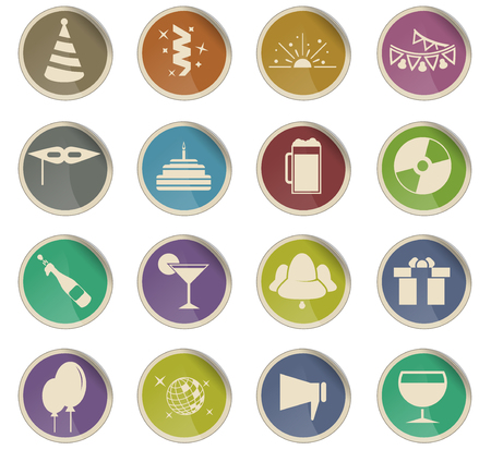 party vector icons for user interface design
