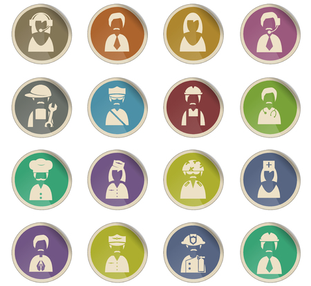 profession vector icons for user interface design Illustration