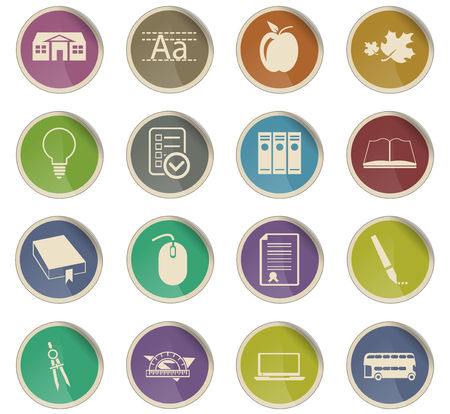 school vector icons for user interface design Illustration