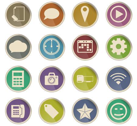 social media vector icons for user interface design Illustration