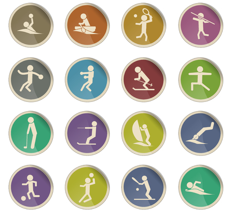 sport vector icons for user interface design Foto de archivo - 112057369