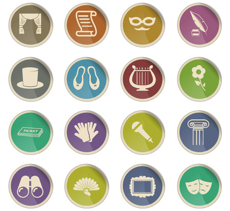 theater vector icons for user interface design