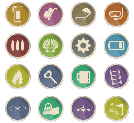travel vector icons for user interface design