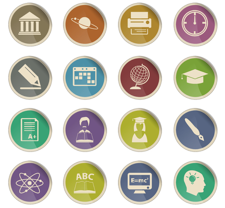 university vector icons for user interface design Illustration