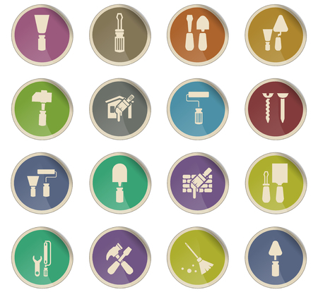 work tools vector icons for user interface design Vector Illustration