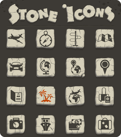 travel vector icons for web and user interface design