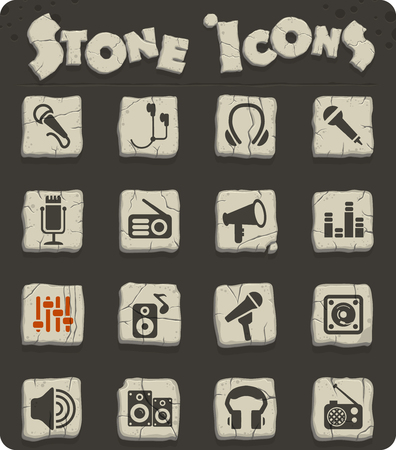 musical equipment web icons for user interface design