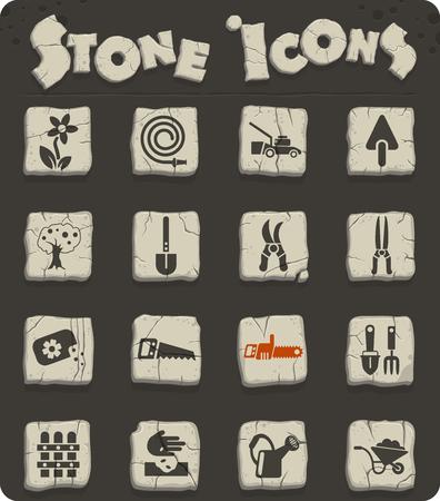 landscape design web icons for user interface design