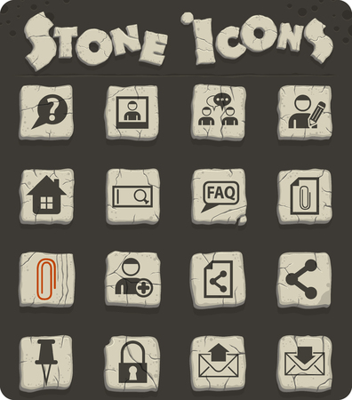 forum interface vector icons for web and user interface design