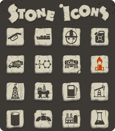 extraction of oil vector icons for web and user interface design Illustration