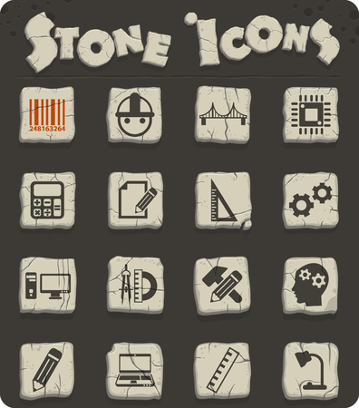 engineering vector icons for web and user interface design Illustration