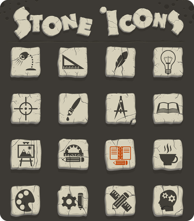 creative process web icons for user interface design