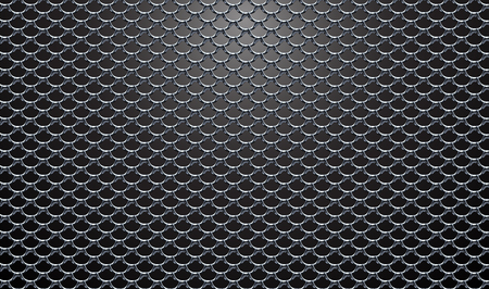Steel mesh realistic vector structure black background