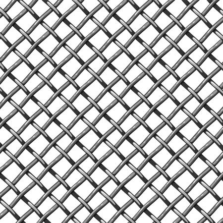 Steel mesh seamless vector pattern, vector background
