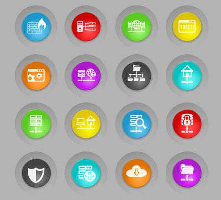 hosting provider web icons for user interface design Ilustração