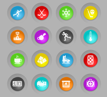 ice rink web icons for user interface design Illustration