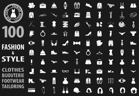 Conjunto de iconos de moda para sitios web e interfaz de usuario