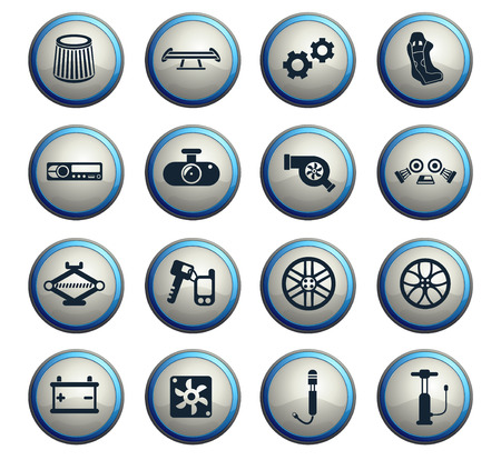 car shop vector icons for web and user interface design Stock Vector - 109102704