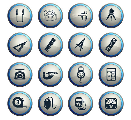 measuring tools web icons for user interface design Vector Illustration