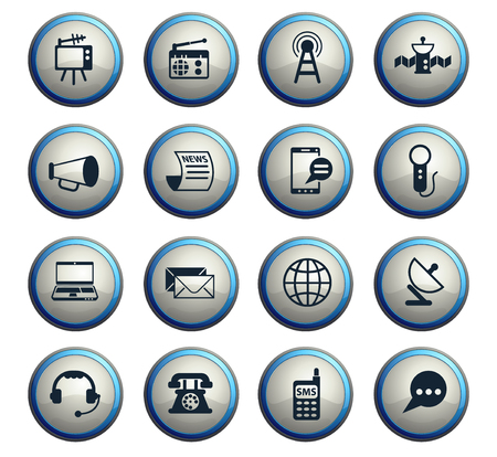 media vector icons for web and user interface design