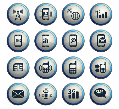 mobile connection web icons for user interface design