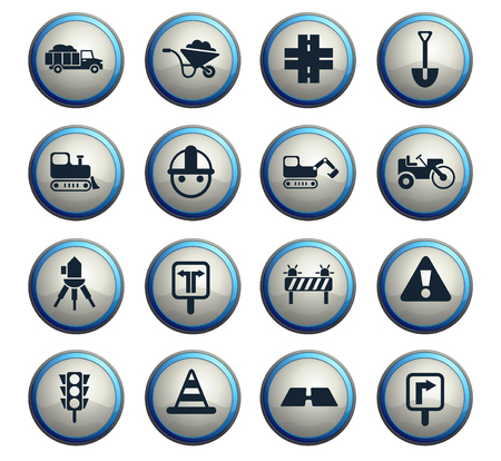road repairs vector icons for web and user interface design