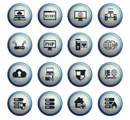 server vector icons for web and user interface design