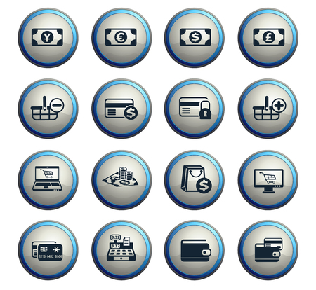 e-commerce vector icons for web and user interface design Illustration