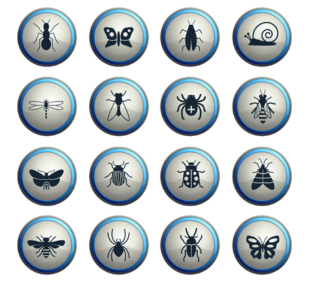 insects web icons for user interface design 向量圖像