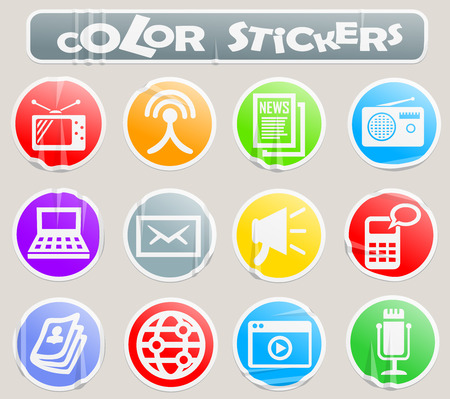Media vector icons for user interface design