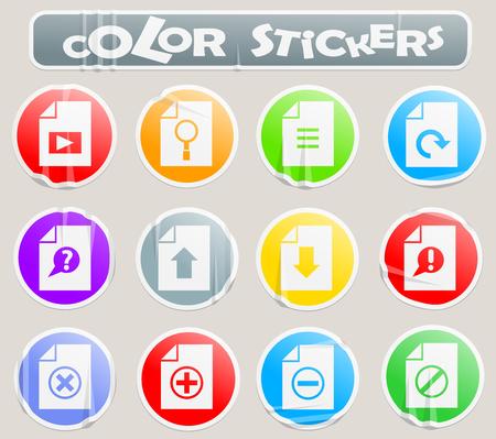 document professional web icons for your design Archivio Fotografico - 109390047