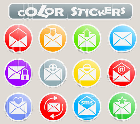 mail professional web icons for your design Standard-Bild - 109422077