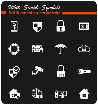 security vector icons for web and user interface design