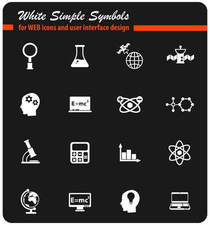 science vector icons for web and user interface design Ilustração