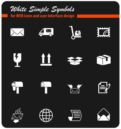 post service vector icons for web and user interface design